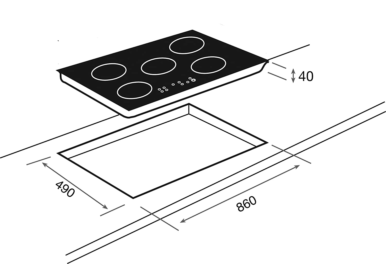 Teka IRS 953 - Placa De Inducción Irs 953 Con 5 Zonas De Inducción: Amazon.es: Grandes electrodomésticos