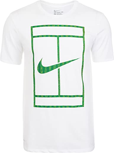 viva Copiar Frustrante  Nike - Wimbledon Court men's tennis shirt (white) - S: Amazon.co.uk:  Clothing