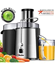 "MUELLER Juicer Ultra 1100W Power, Easy Clean Juice Extractor Press Centrifugal Juicer Machine, Wide 3"" Feed Chute for Whole Fruit Vegetable, Anti-drip, for Fruits and Vegetables, BPA-Free"