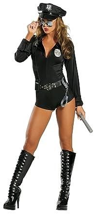 c3a66abc9fe Amazon.com  Roma Costume 7 Piece Lady Cop  Clothing