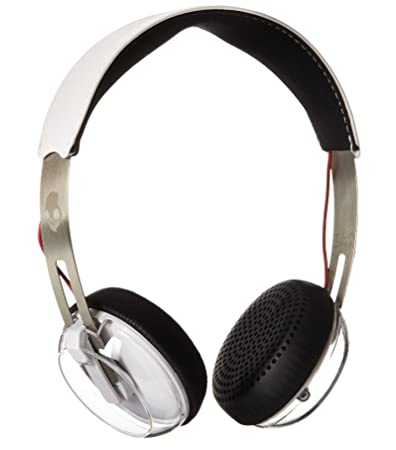 Skullcandy Grind On-Ear Headphones with Built-in Mic, White, Black and Red
