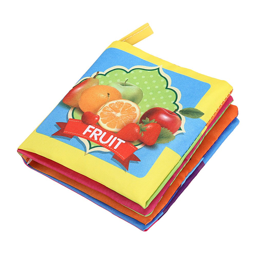 Aediea Soft Cloth Book Baby Kids Child Early Educational Cartoon Book Toys (Fruit)