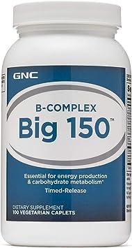 Gnc Bcomplex Big 150 100 Vegetarian Caplets
