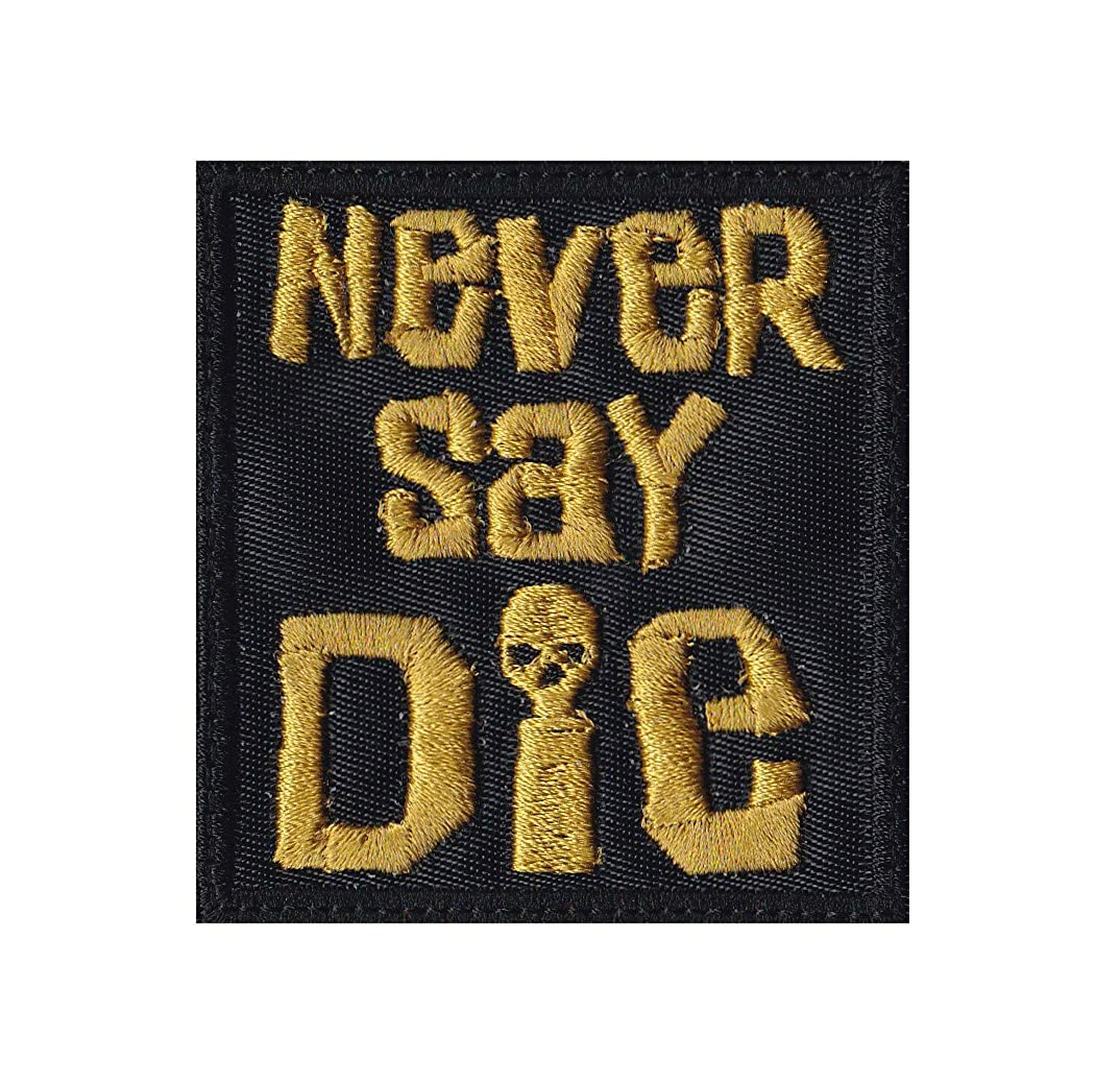 Never Say Die Goonies Skull Pirates Patch Hook-0107-DIGICAM