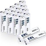 EBL 1.5V Batterie litio, stilo AA con durata lunga, Confezione da 16 pezzi