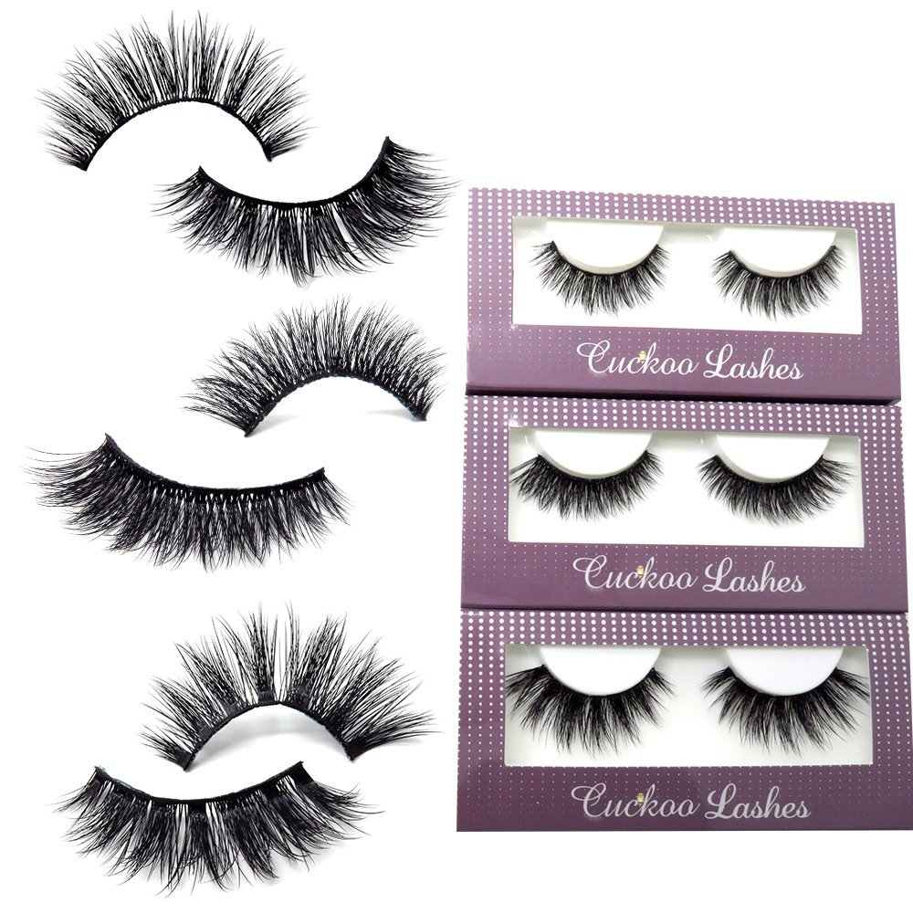 Amazon 3d Faux Mink Eyelashes Natural Soft Long Handmade