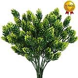 Nahuaa 4 pz cespugli di plastica finto pino artificiale fiori piante da esterno decorazioni primaverili per la casa ufficio cucina interna ed esterna verde