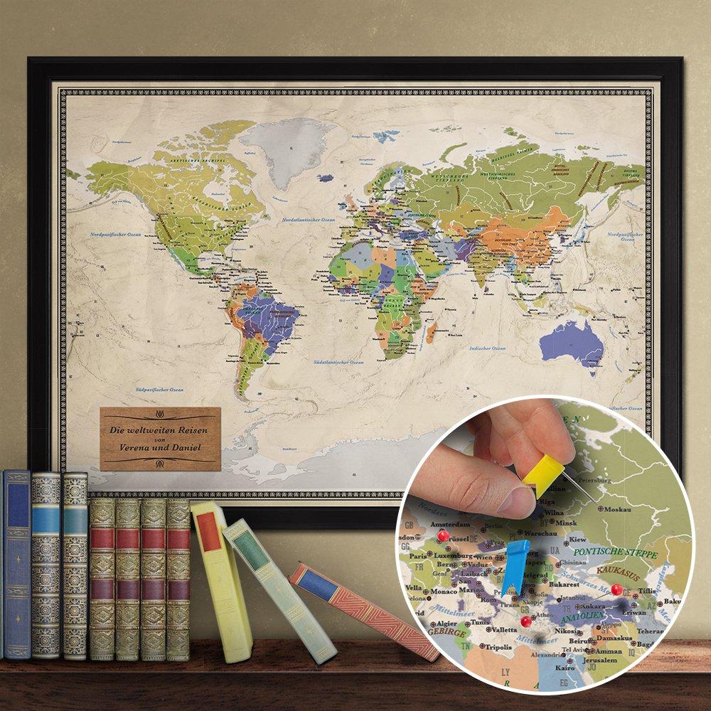 Niedlich Gerahmte Weltkarte Für Büro Zeitgenössisch - Rahmen Ideen ...