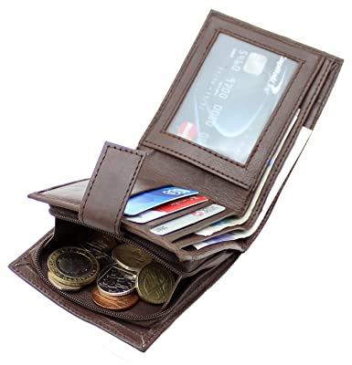ca3040ac713ac3 RAS Men's Soft Black Genuine Leather RFID Blocking Wallet Credit Card, Note  Pocket & Zipped