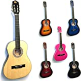 Rio 3/4 Size Natural Classical Guitar Pack For Kids Beginners - Suit 9 To 12 Years - Inc Bag, Strap, Picks, Pitch Pipes - New