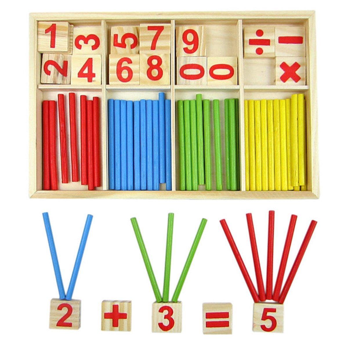 [Free Shipping] Kids Children Wooden Numbers Mathematics Early Learning Counting Educational Toy // Enfants de gosses mathématiques de nombres de bois en apprenant tôt le compte du jouet éducatif