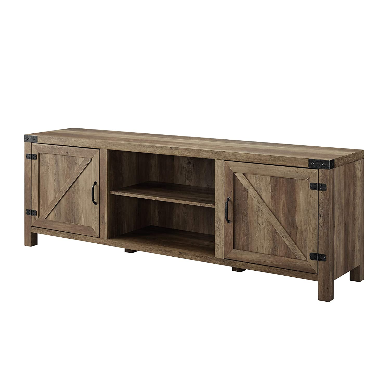 WE Furniture AZ70BDSDRO TV Stand, 70 , Rustic Oak