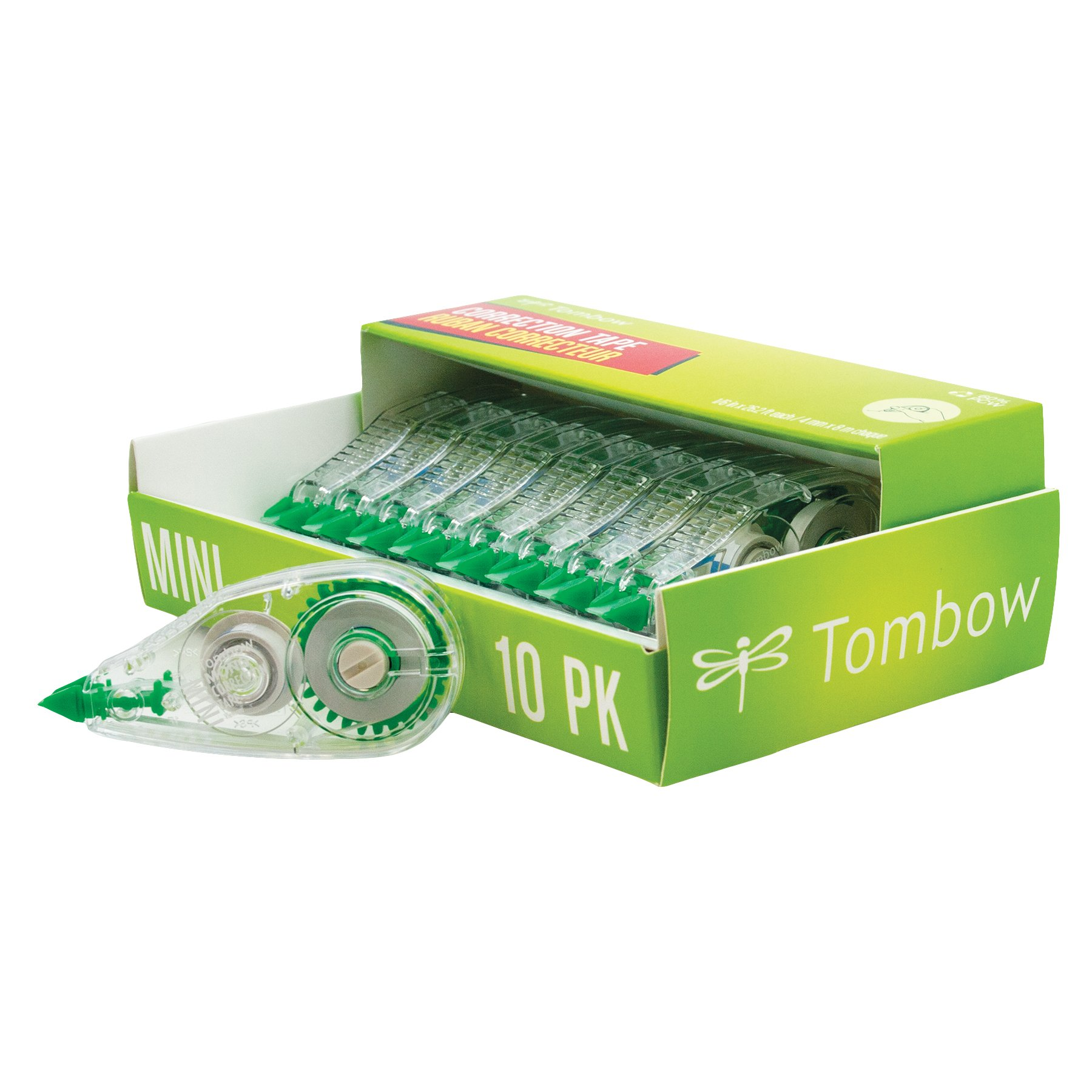 Tombow 68722 MONO Mini Correction Tape, 10-Pack. Easy to Use Applicator for Instant Corrections