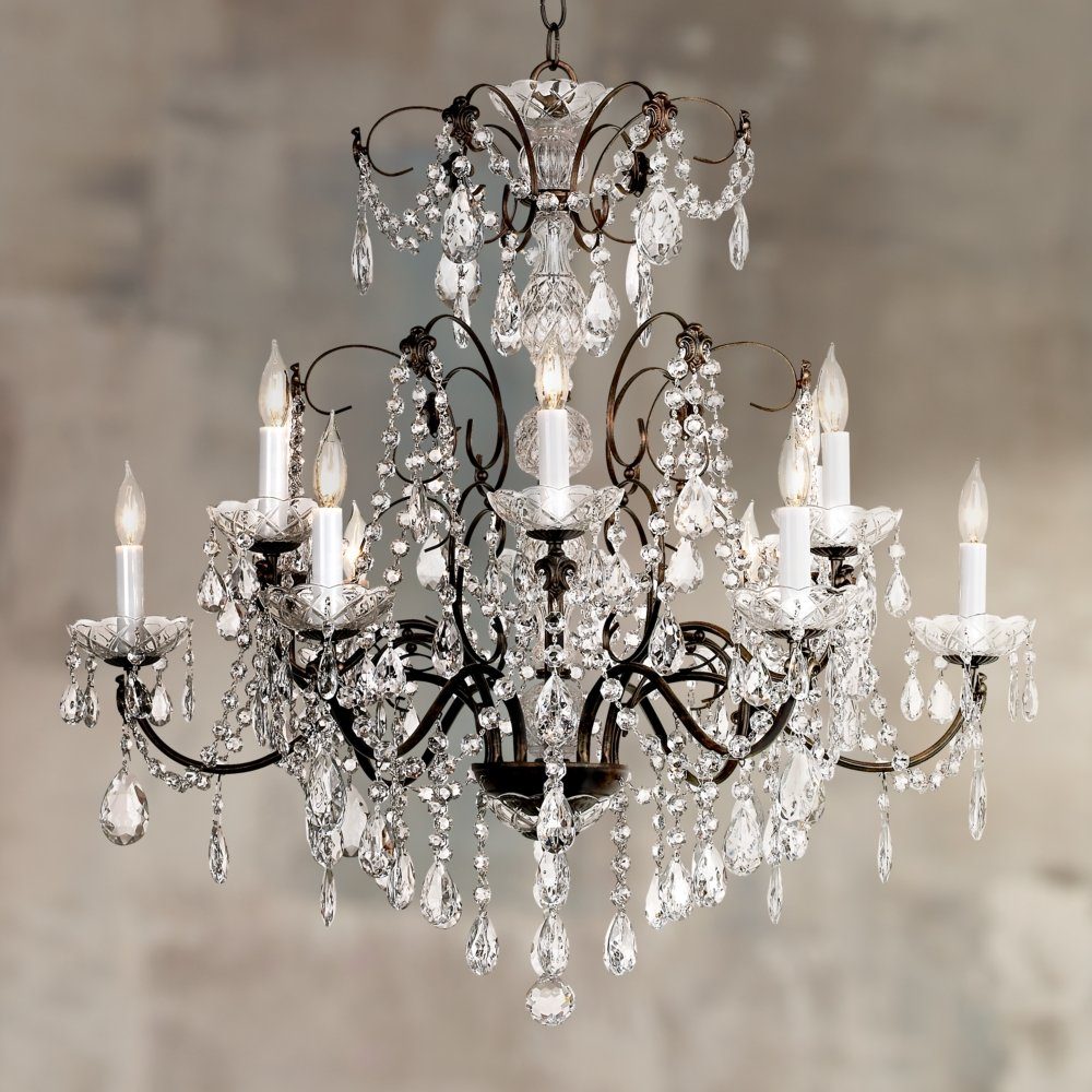 inch crystal capitol with finish schonbek handcut item chandelier gold heritage sonatina shown lighting cfm clear light wide polished in
