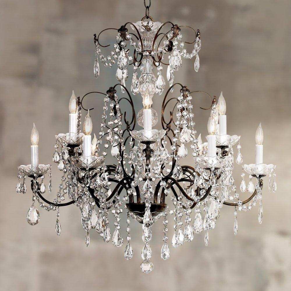 black crystal schonbek chandelier century pearl lighting undefined light