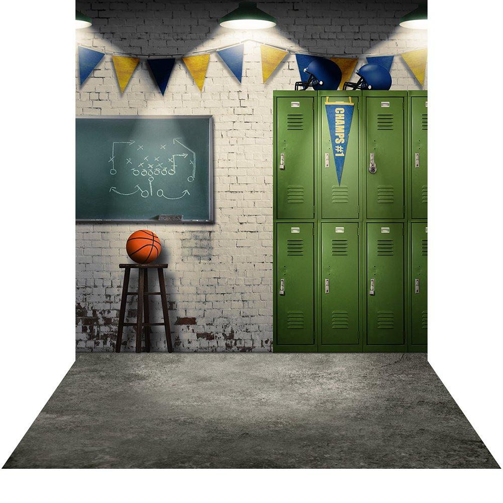 写真バックドロップwith床 – Locker Room – 6 x 8 ft。 – 高品質シームレスなファブリック   B00OZY6O8E