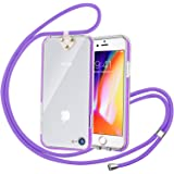 Phone Case with Strap, Senose Adjustable Neck Lanyard with Anti-Scratch Shock Absorption Clear Crossbody Cover Compatible wit