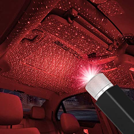 Keedin Led Car Ceiling Lights Plug And Play Auto Roof And Home Romantic Usb Night Light Adjustable Led Star Projector Lights Portable Atmosphere Decorations Lights Interior For Car Bedroom Party
