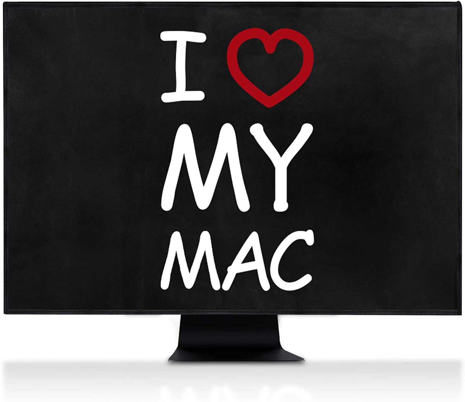 I Love My Mac White//Red//Black iMac Pro 27-4-in-1 Case kwmobile Cover Compatible with Apple iMac 27