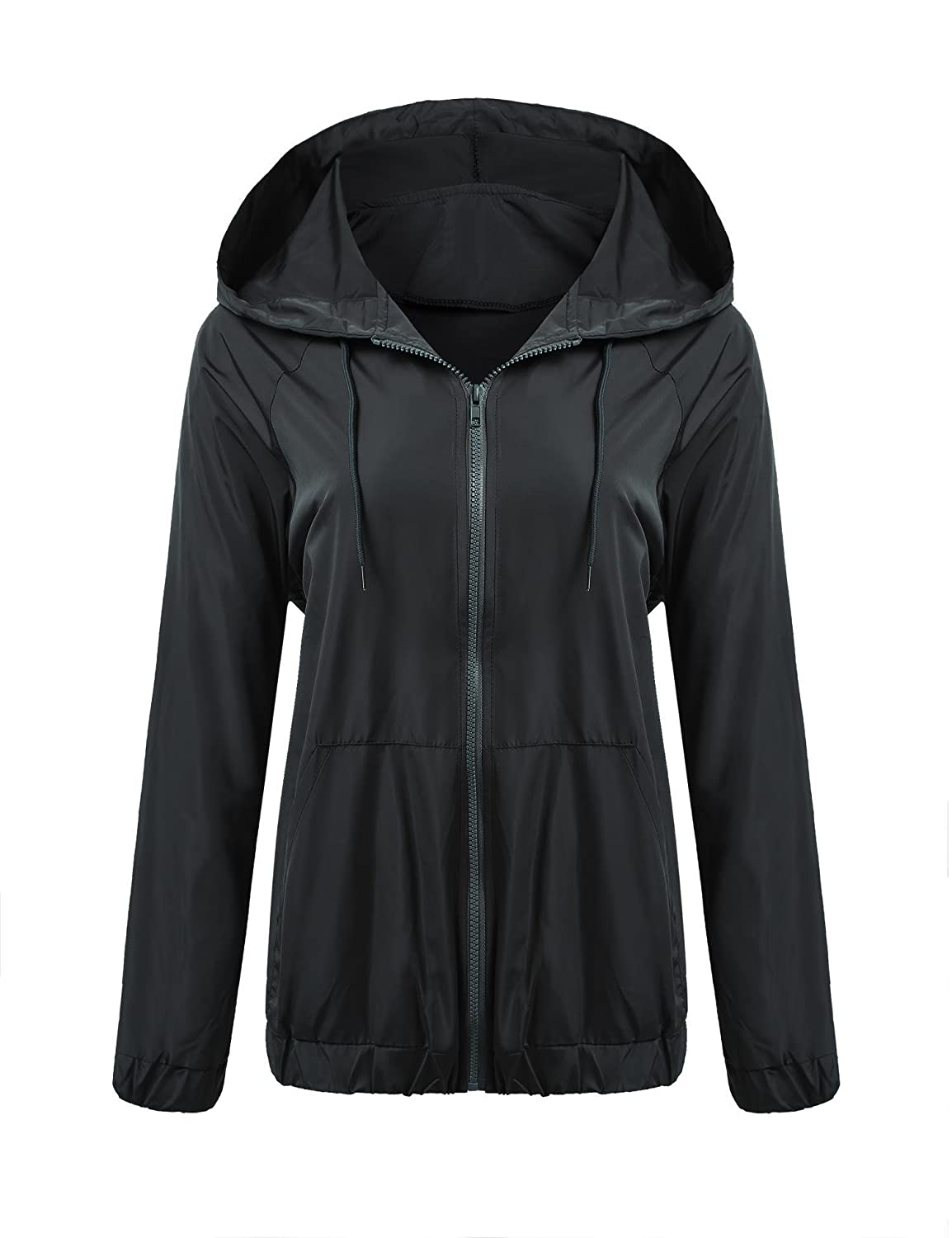 Meaneor Womens Rainwear Active Outdoor Hooded Cycling Packable and Lightweight Jacket *MAH005320