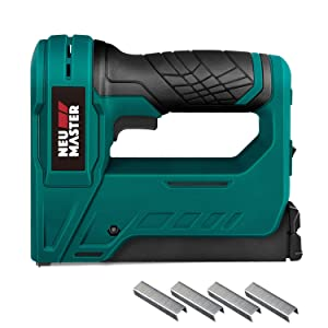 Cordless Staple Gun, NEU MASTER NTC0070 3.6V Li-ion Battery Staple Gun for DIY Small Project of Upholstery, Home Improvement and Woodworking, Including charger and staples