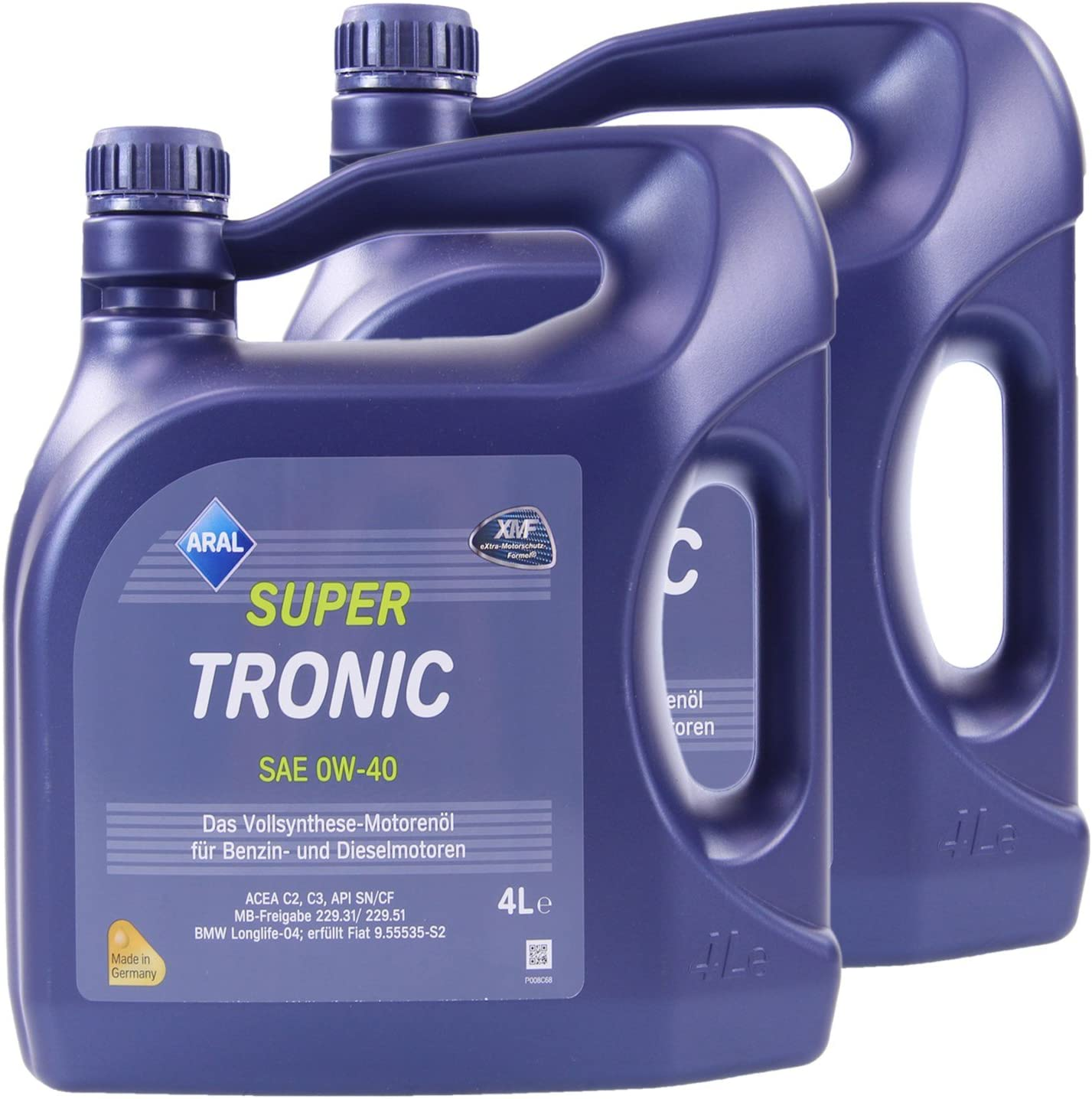 2x 4 L 8 Liter Aral Supertronic 0w 40 Motoröl Auto