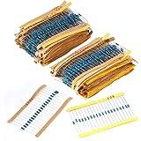 2600pcs Ohm Resistor 130 Values 1/4W Metal Film Resistors Assortment Kit Set