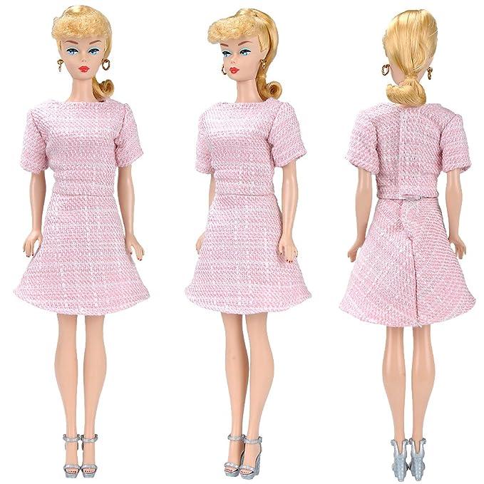 Amazon.es: E-TING Vestido Hecho a Mano de Falda Ropa para Bmuñeca de niña (Pink Dress Set)(muñeca no incluida): Juguetes y juegos