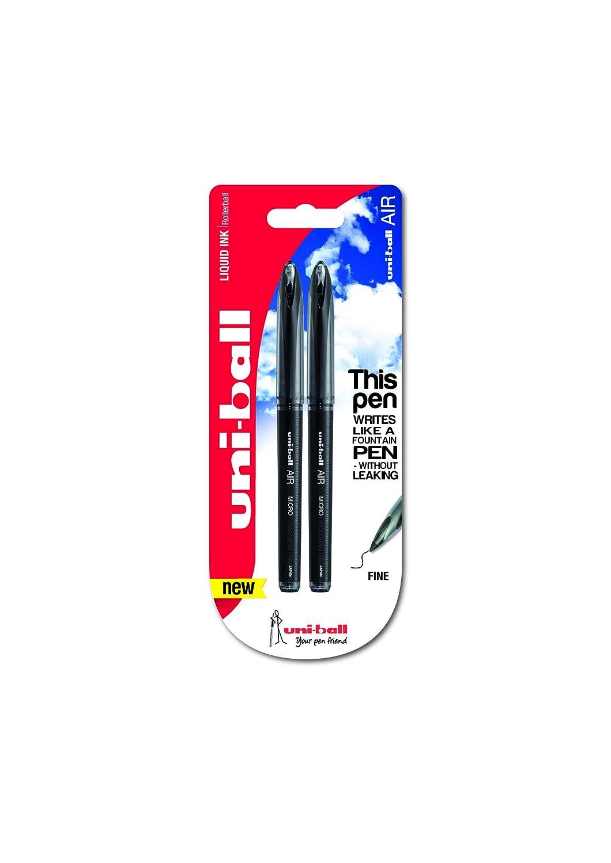 Uni-Ballblister micro Air–Penna a sfera con inchiostro nero (confezione da 2) Mitsubishi Pencil Company 153544261