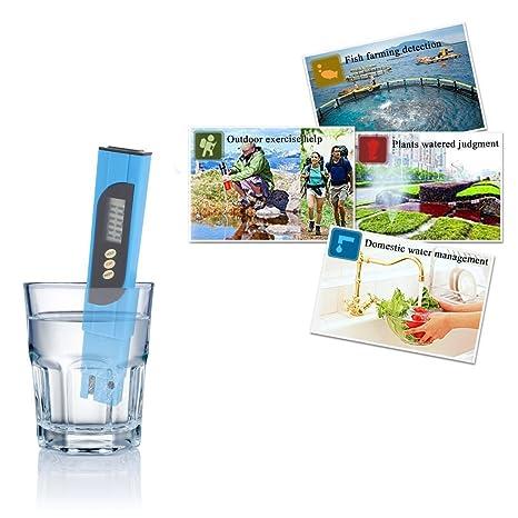 0-9990 ppm TDS portátil Azul Medidor de Calidad del Agua Tester Digital: Home & Kitchen