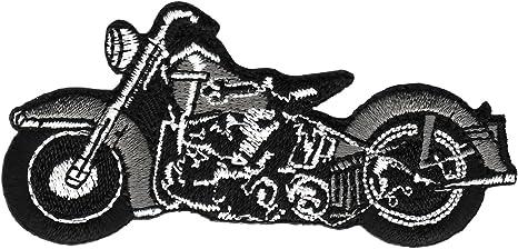 13,5 x 6 cm rot Motorrad Biker Aufnäher // Bügelbild Patches Aufbügeln