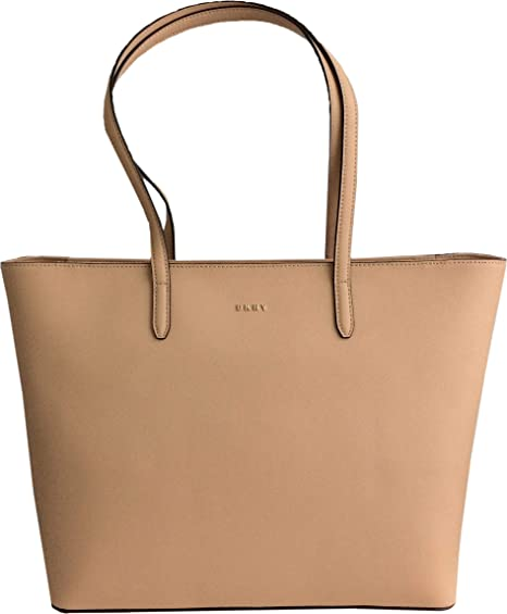 DKNY Large Saffiano Leather Shoulder Tote Bag in Chino  Amazon.co.uk   Luggage 160781b3d0ad3