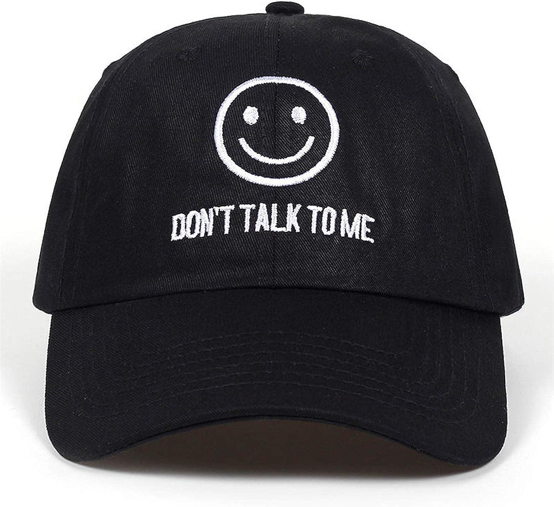 sterrp New Dont Talk to ME Dad Hat Men Women Fashion Smiley Face Hip-Hop Adjustable