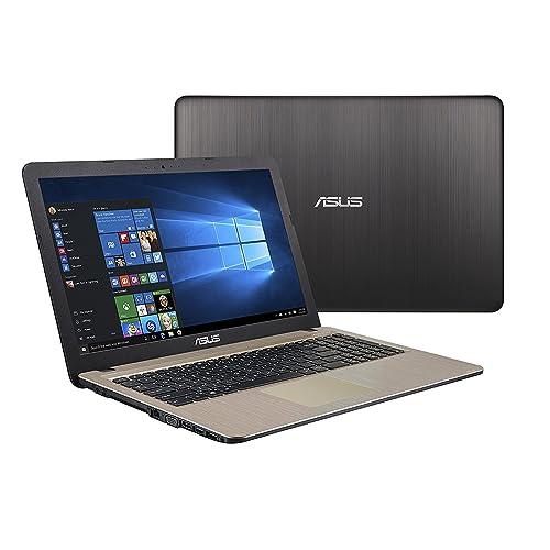 ASUS (15,6 Zoll) Windows 10 Notebook (Intel N3050 Dual Core 2x2.16 GHz, 4GB RAM, 500GB S-ATA HDD, Intel HD Graphics, HDMI, VGA, Webcam, USB 3.0, USB Type-C, WLAN, DVD-Brenner, Office 2016