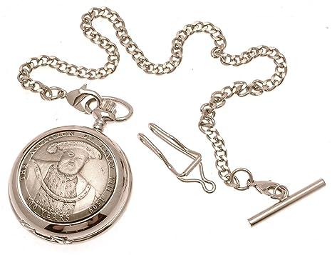 Metálico de peltre de cuarzo - Henry de fundición diseño de reloj de bolsillo 11 lámina con pegatinas: Amazon.es: Relojes