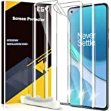 EGV 3 Pack Screen Protector Compatible with Oneplus 9 Pro, [Not Fit for OnePlus 9] HD Clear Flexible Film, Positioning Tool,