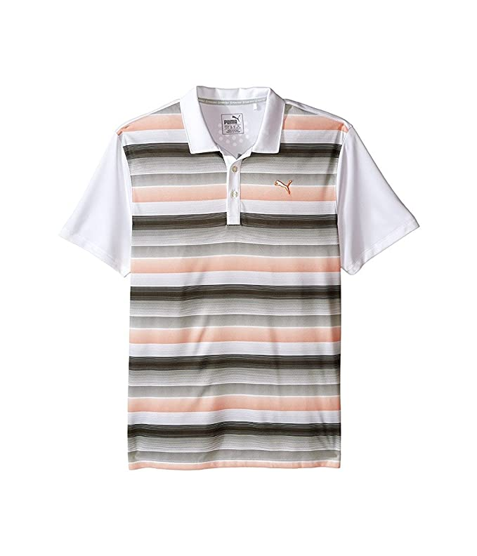 PUMA Golf Kids Boys Roadmap Polo JR (Big Kids) Bright White ...