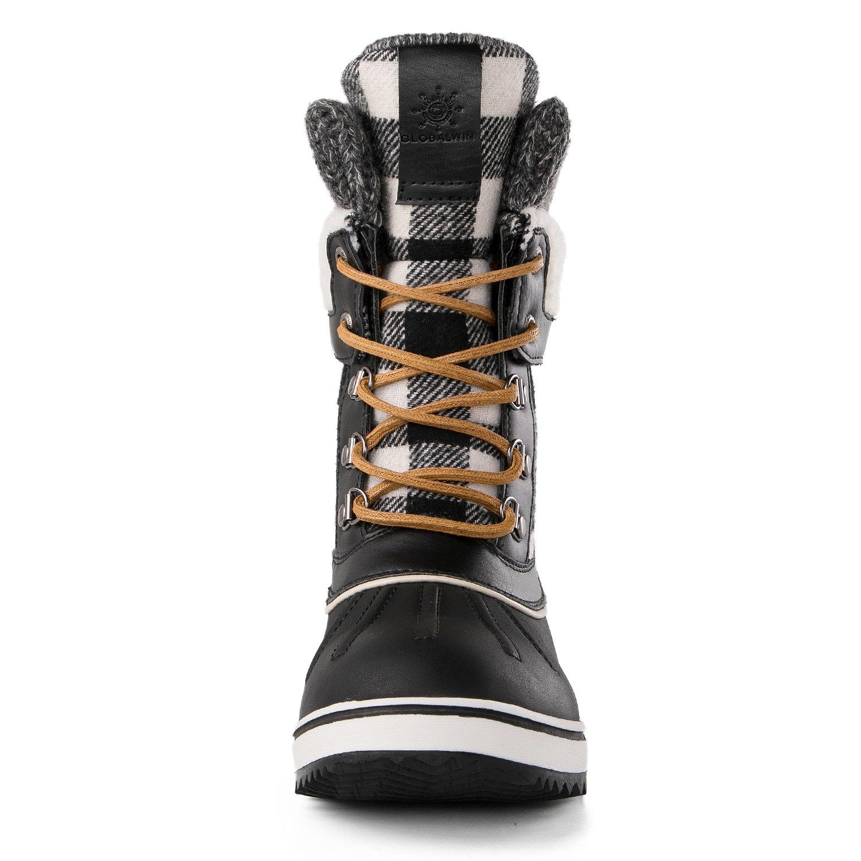 Global Win GLOBALWIN Women's Waterproof Winter Snow Boots B07621XKP2 5.5 M US|Black1738