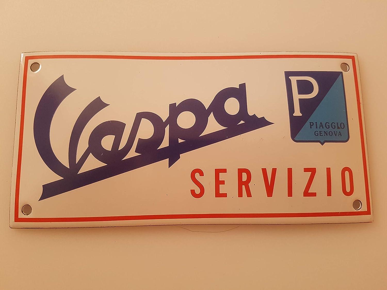 EMAILLE BBV Cartel (Vespa servizio Plaza 20 x 10 cm Email ...