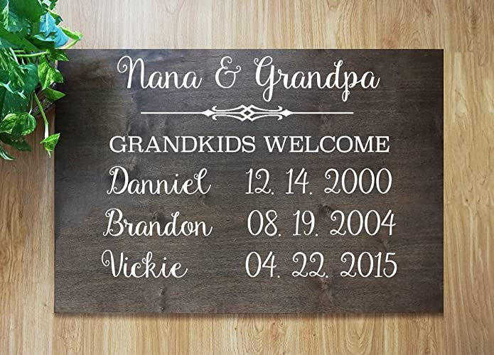 Amazoncom Fast Shipping Grandparents Personalized Sign Custom