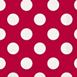 Red Polka Dot Beverage Napkins, 16ct