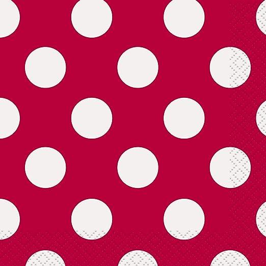 5 opinioni per Unique Party 30424 Tovaglioli di Carta a Pois Rosso, Confezione da 16