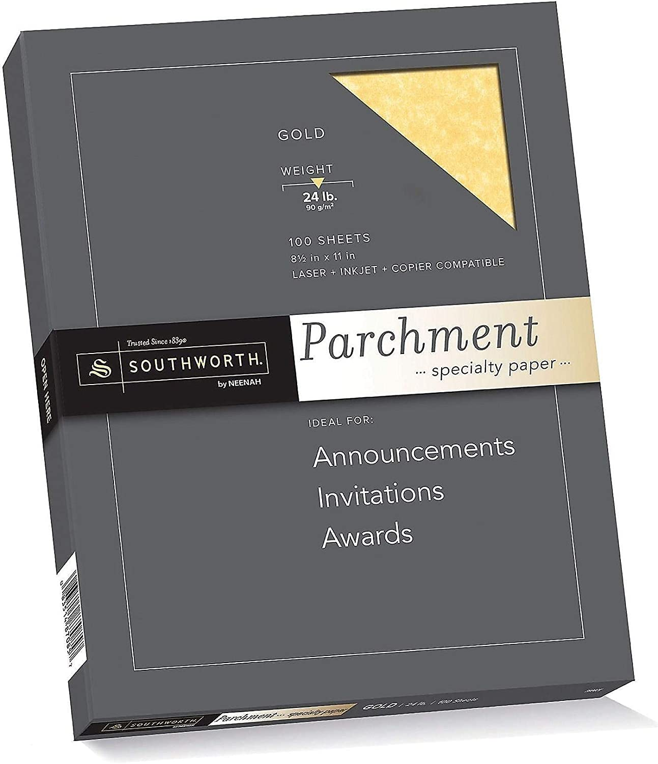 Southworth 619297 Southworth Parchment Specialty Multipurpose Paper 24 lbs 8.5-Inch x 11-Inch