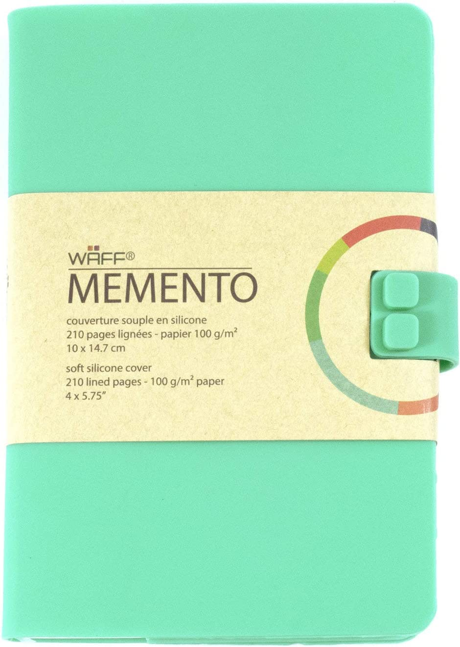 A6 MEDIUM WAFF Memento Silicone Notebook Journal VARIOUS VIBRANT COLOURS