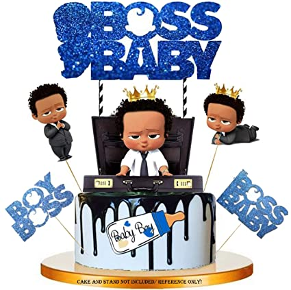 Amazon Com Ethnic Boss Baby Glitter 10pc Cake Topper