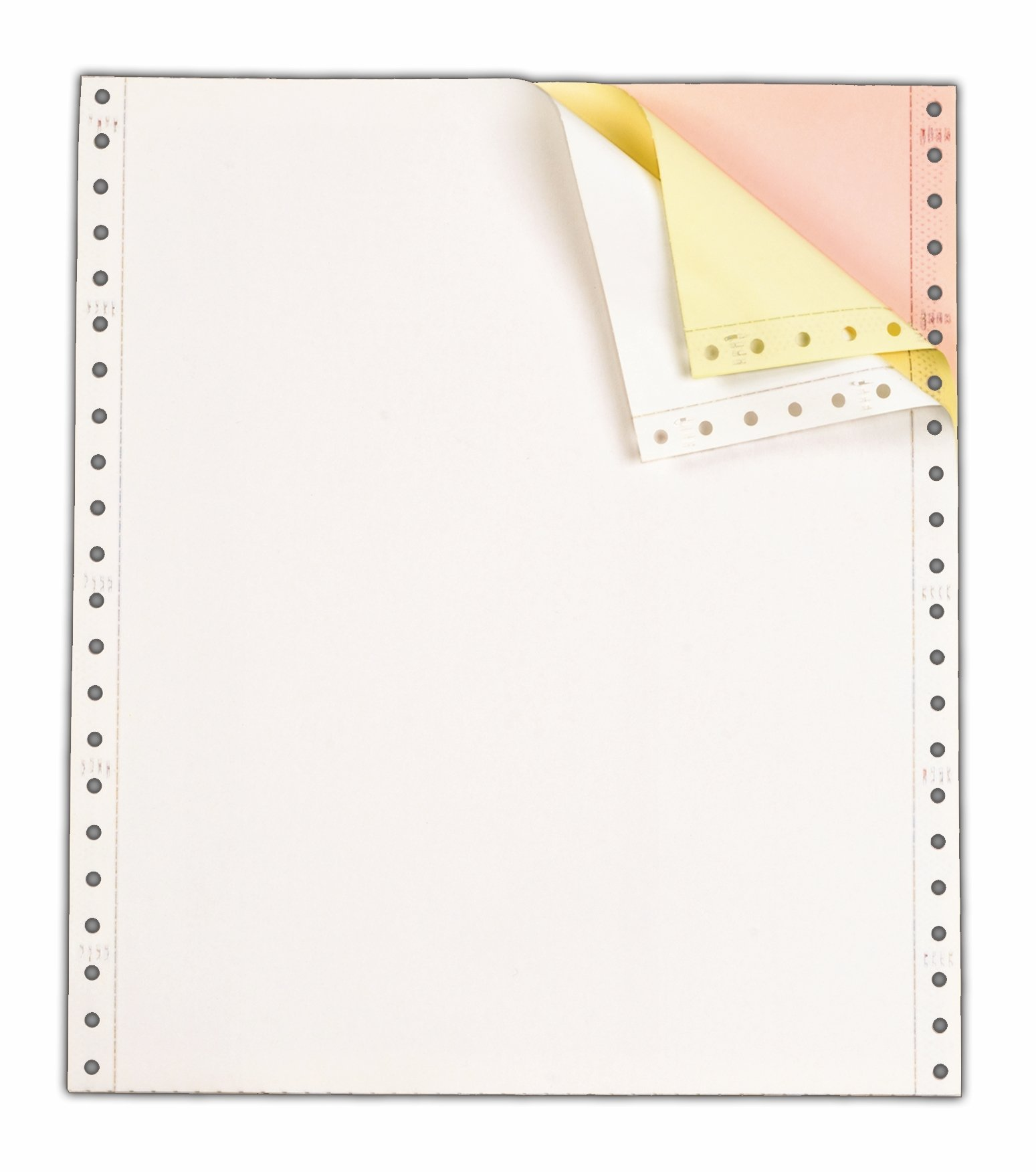TOPS Continuous Computer Paper, 3-Part Carbonless, Removable 0.5 Inch Margins, 9.5 x 11 Inches, 1100 Sheets, White/Canary/Pink (55179) by TOPS