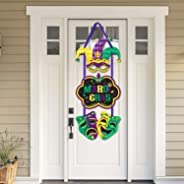 Mardi Gras Party Door Sign Cutouts Masquerade Holiday Party Wall Porch Hanging Decorations Supplies