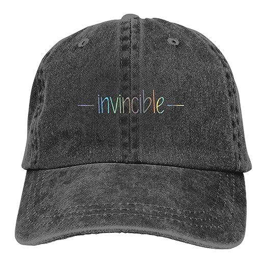 de92c043 Amazon.com: GGHUJDI Invincible Baseball Cap Cowboy Hat Dad Trucker Hat  Denim Adult Cap Hat: Clothing
