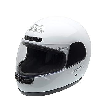 NZI Activy Casco de Moto, Blanco, 57 (M)