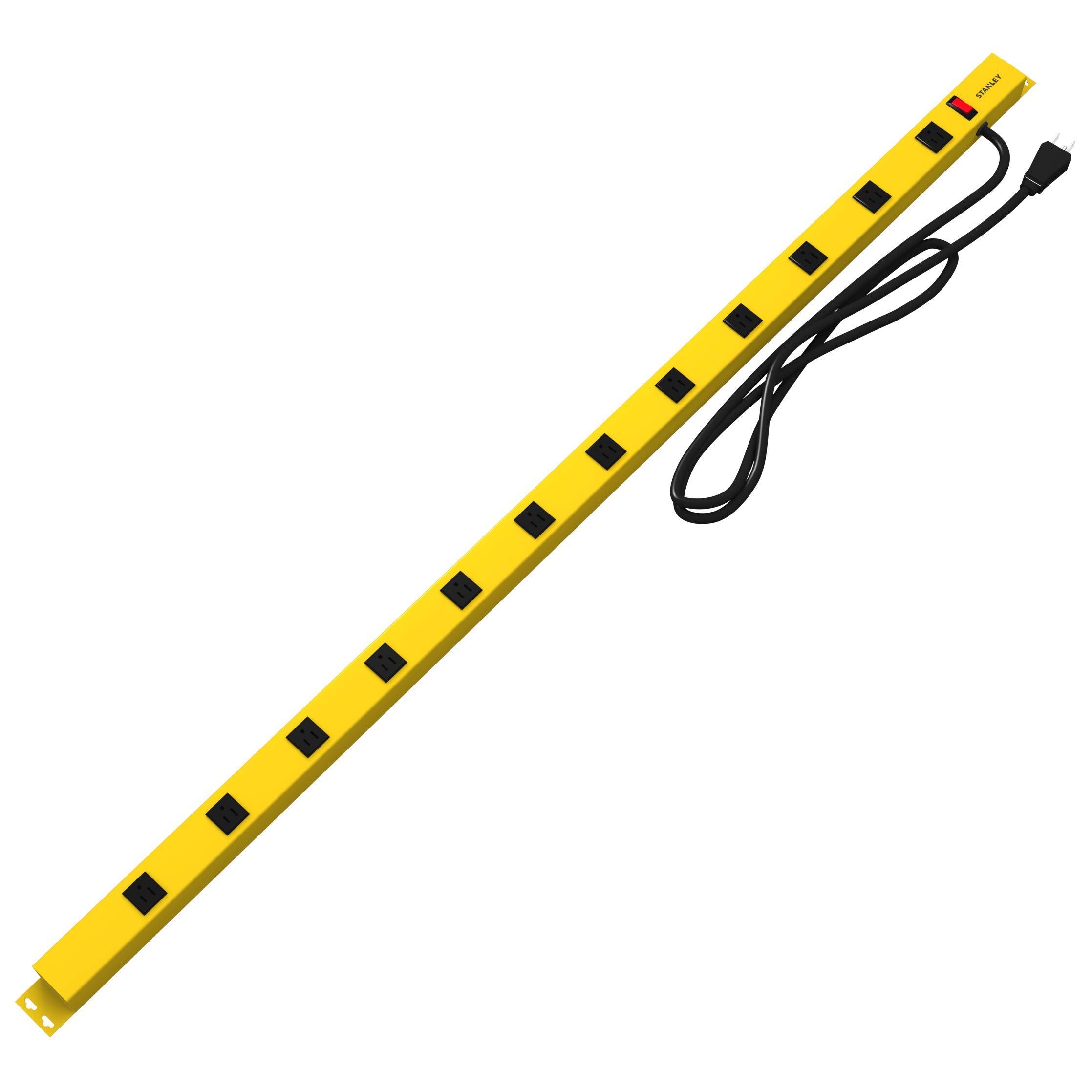 Stanley 31616 Pro12 Shop Max Metal Power Bar, Black/Yellow, 1-Pack